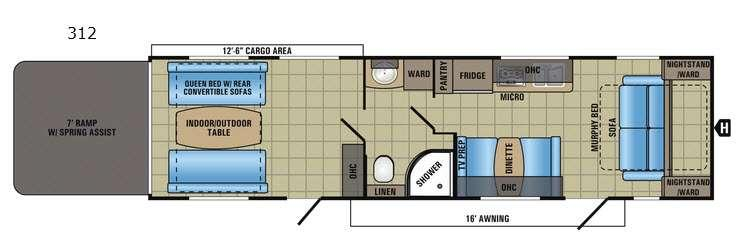 Octane Super Lite 312 Floorplan Image