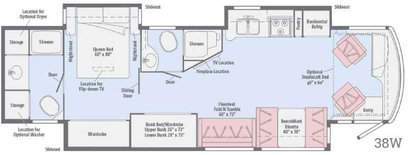 Floorplan - 2017 Winnebago Forza 38W