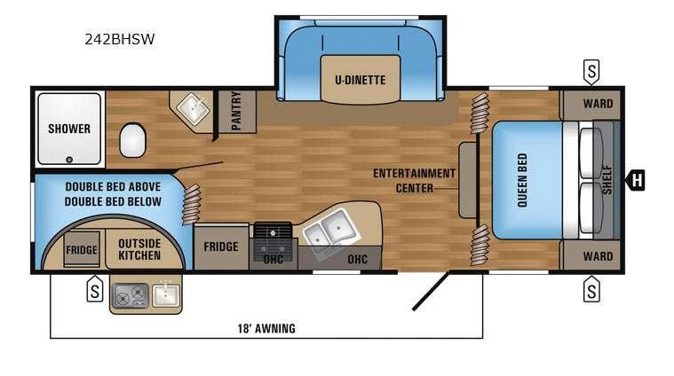 Jay Flight SLX 242BHSW Floorplan Image