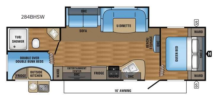 Jay Flight SLX 284BHSW Floorplan Image