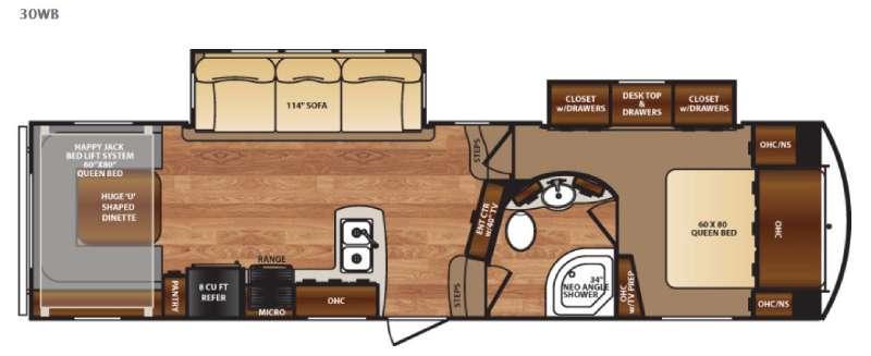 Wildcat 30WB Floorplan