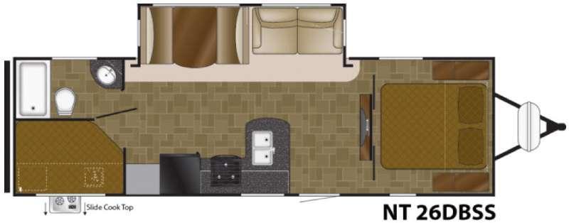 North Trail 26DBSS King Floorplan Image