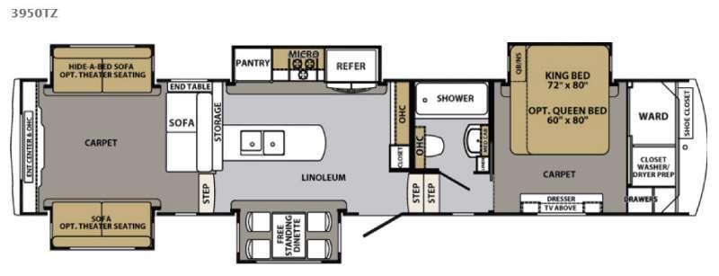 Cardinal 3950TZ Floorplan Image