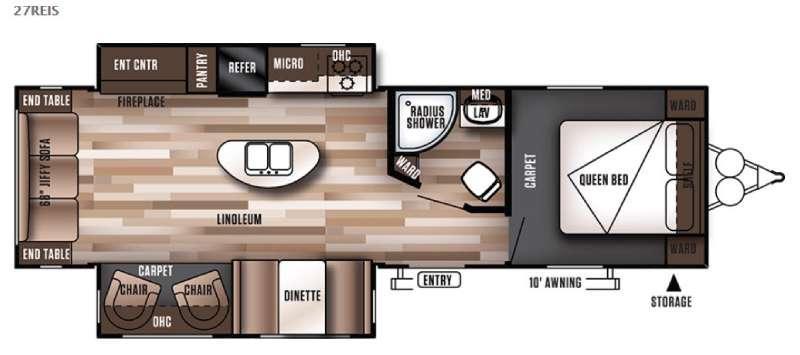 Wildwood 27REIS Floorplan Image