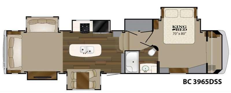 Floorplan - 2017 Heartland Big Country 3965 DSS