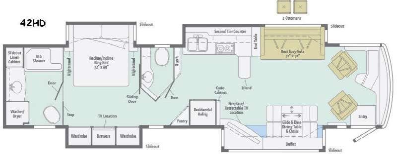 Tour 42HD Floorplan Image