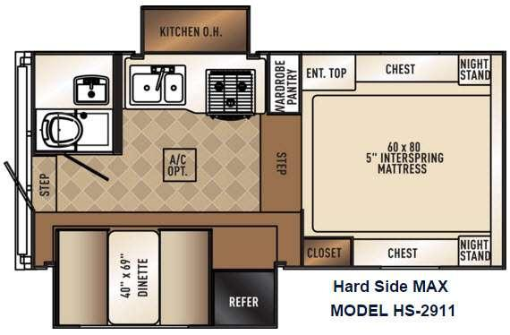 Backpack Edition HS 2911 MAX Floorplan Image