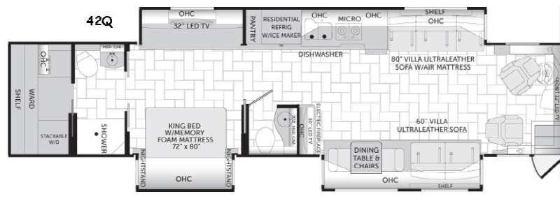 American Revolution 42Q Floorplan Image