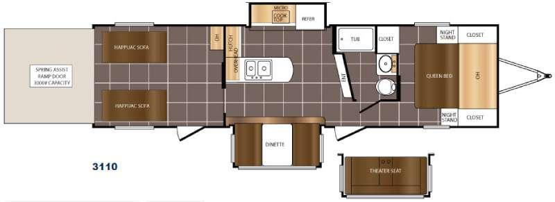 Floorplan - 2017 Prime Time RV Fury 3110