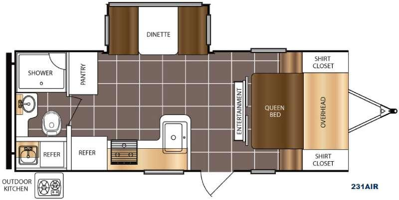 Tracer Air 231AIR Floorplan Image