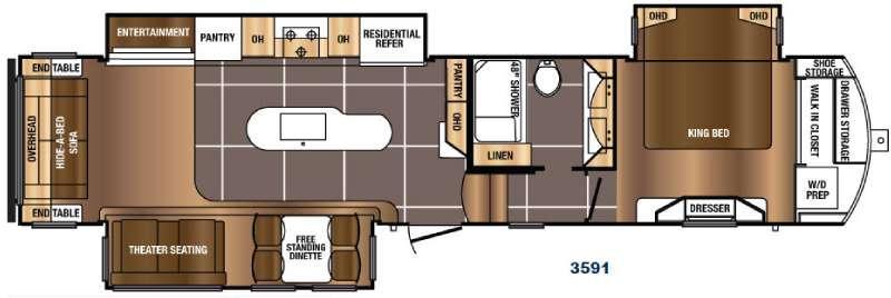 Floorplan - 2017 Prime Time RV Sanibel 3591
