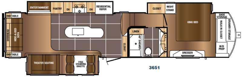 Floorplan - 2017 Prime Time RV Sanibel 3651