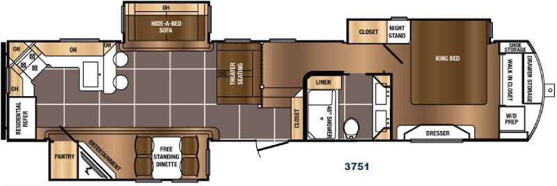 Floorplan - 2017 Prime Time RV Sanibel 3751