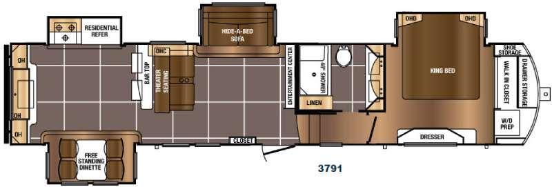 Floorplan - 2017 Prime Time RV Sanibel 3791
