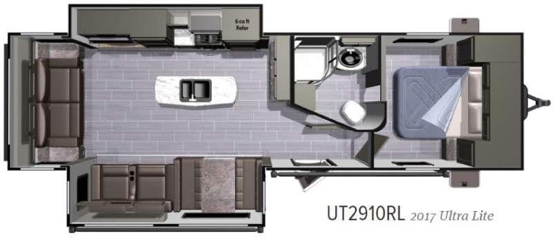 Open Range Ultra Lite UT2910RL Floorplan Image