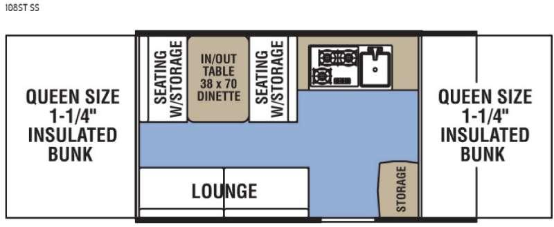 Clipper Camping Trailers 108ST SS Floorplan Image
