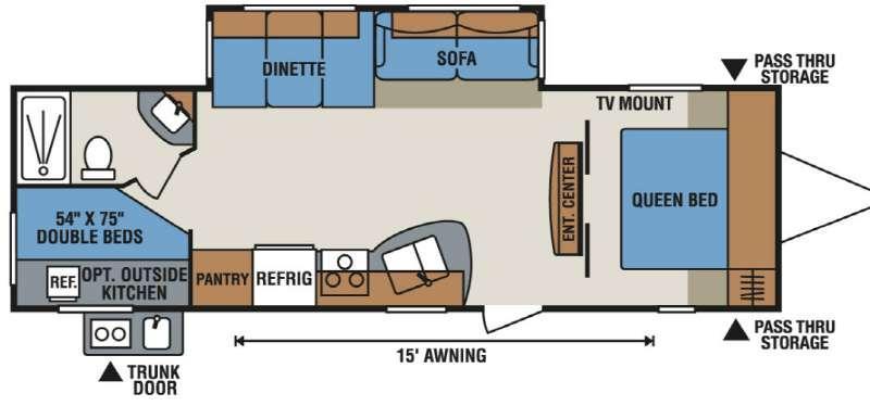 Spree Connect C281BHK Floorplan Image