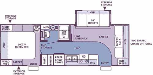 Floorplan - 2007 Forest River RV Flagstaff 26FS