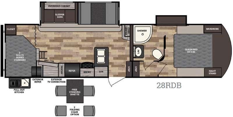 Voyage 28RDB Floorplan Image