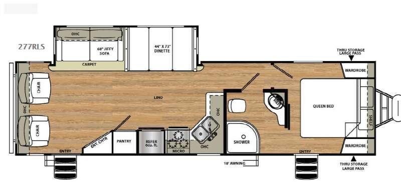 Vibe Extreme Lite 277RLS Floorplan