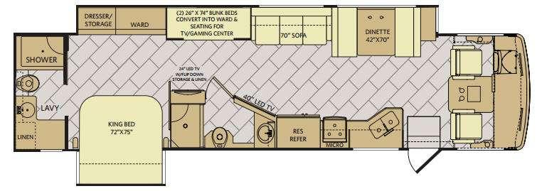 Storm 36F Floorplan Image