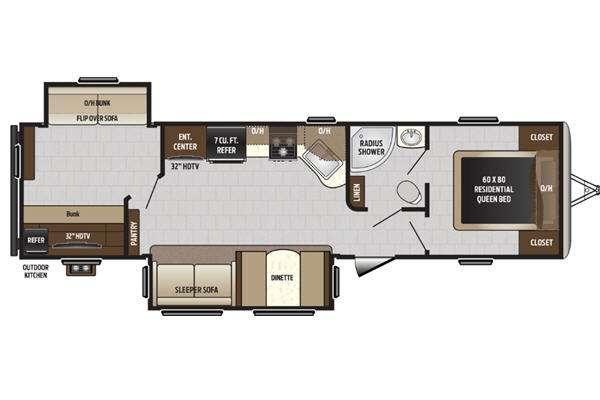 Sprinter Campfire Edition 33BH Floorplan Image