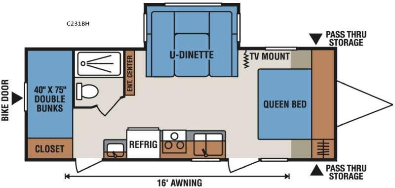 Spree Connect C231BH Floorplan Image