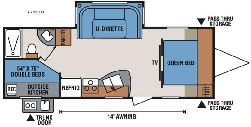 Spree Connect C241BHK Floorplan Image