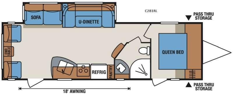 Spree Connect C281RL Floorplan Image