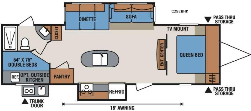 Spree Connect C292BHK Floorplan Image