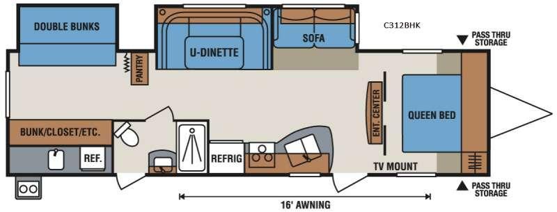 Spree Connect C312BHK Floorplan Image