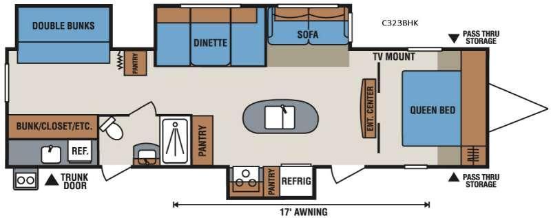 Spree Connect C323BHK Floorplan Image