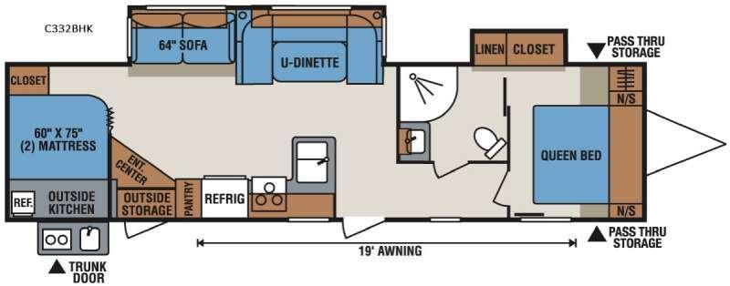 Spree Connect C332BHK Floorplan Image