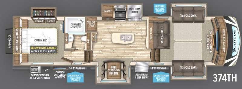 Floorplan - 2017 Grand Design Solitude 374TH