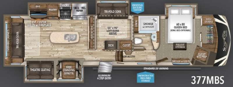Floorplan - 2017 Grand Design Solitude 377MBS
