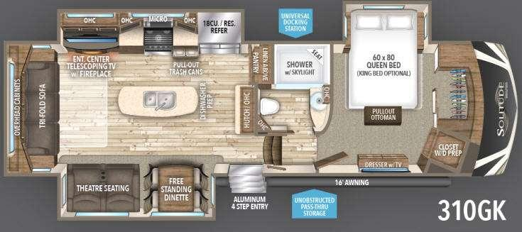 Floorplan - 2017 Grand Design Solitude 310GK R