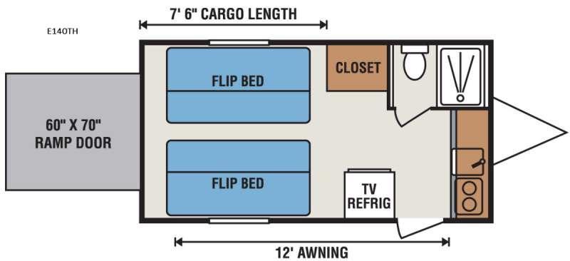 Spree Escape E140TH Floorplan Image