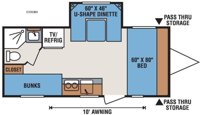 Spree Escape E191BH Floorplan Image
