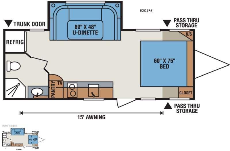Spree Escape E201RB Floorplan Image