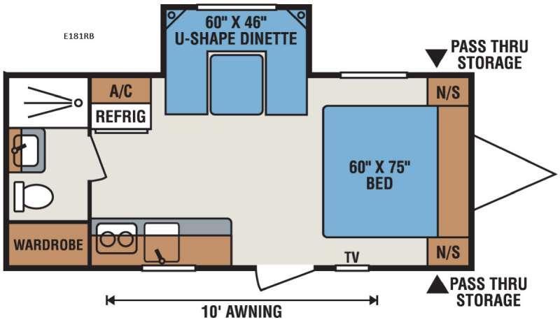 Spree Escape E181RB Floorplan Image
