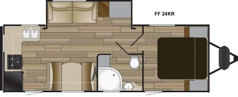 Floorplan - 2017 Cruiser Fun Finder XTREME LITE 24KR