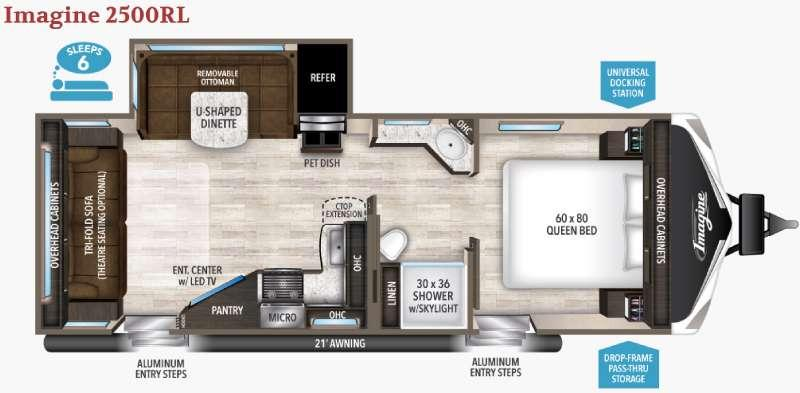 Floorplan - 2017 Grand Design Imagine 2500RL
