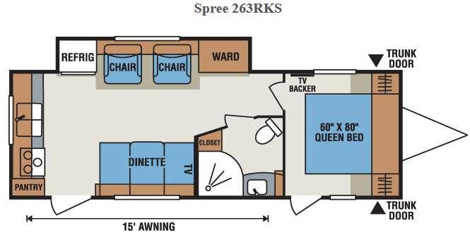 Spree 261RKC Floorplan Image