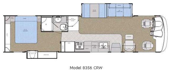 Floorplan - 2007 Gulf Stream RV Crescendo 8356 CRW