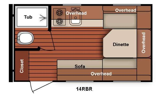 Serro Scotty 14RBR Floorplan Image