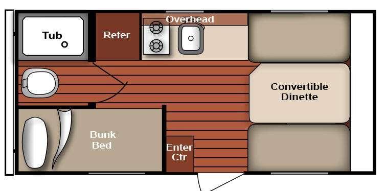 Serro Scotty 16BHR Floorplan Image