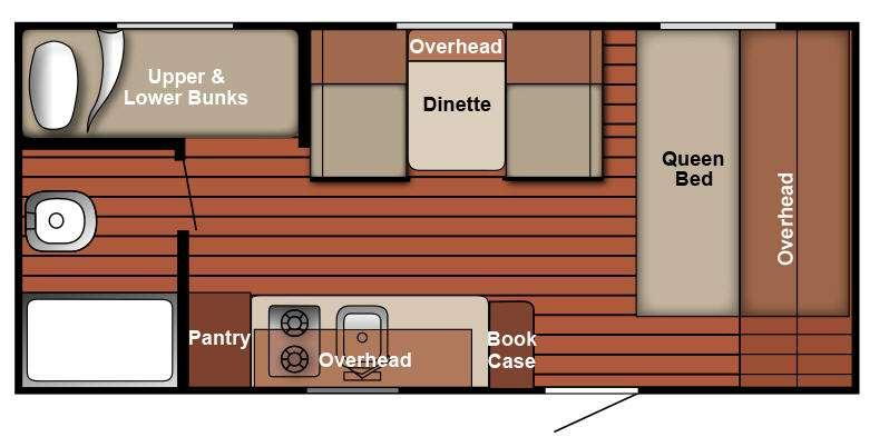 Serro Scotty 198BHR Floorplan Image