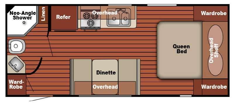 Serro Scotty 218MBR Floorplan Image
