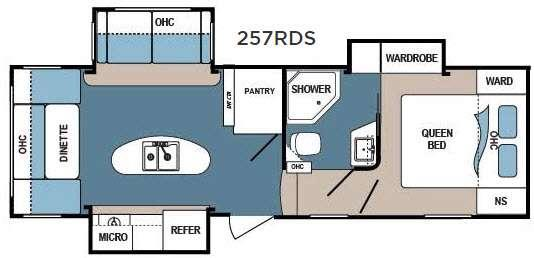 Denali 257RDS Floorplan Image