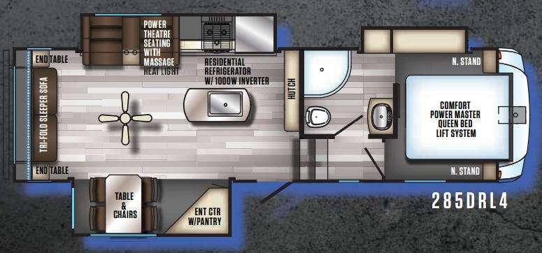 Floorplan - 2017 Forest River RV Cherokee Arctic Wolf 285DRL4